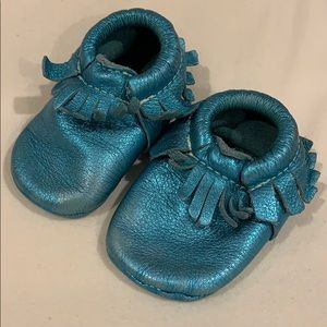 🧜♀️ Mermaid Metallic Blue 🧜♀️ baby Moccasins